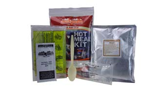 Hot Meal Kit 400g | genuine military style MRE meal-ready-to-eat | EVAQ8 Emergency Preparedness